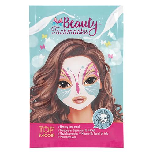 Pleťová maska Top Model ASST Zelená, motiv motýla