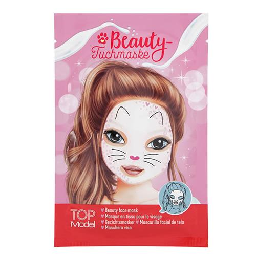 Pleťová maska Top Model ASST Růžová, motiv kočičky