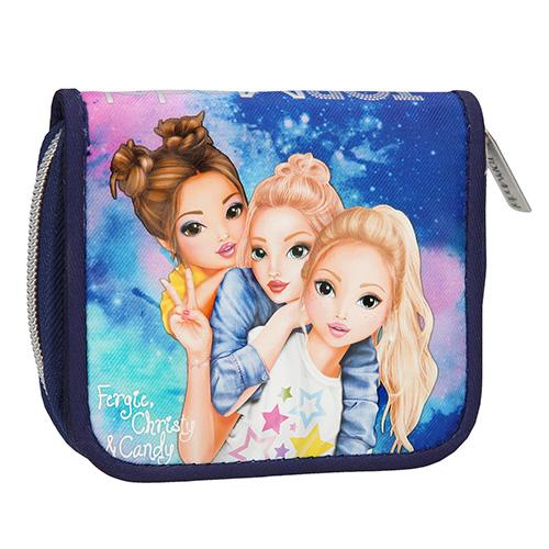 Peněženka Top Model Fergie, Christy a Candy, modrá