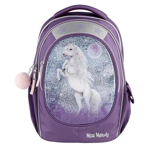 Školní batoh Miss Melody Miss Melody, fialový s glitry