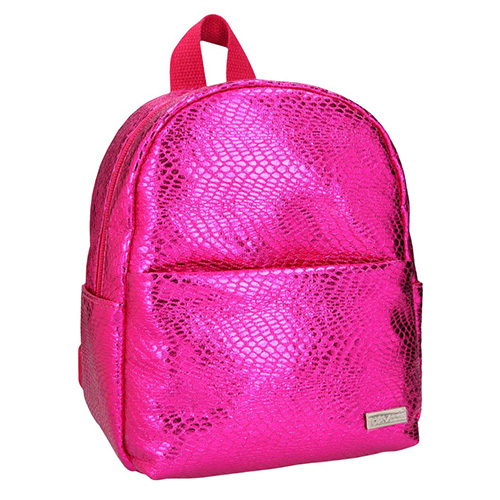Mini batůžek Top Model Tmavě růžový, s hadím vzorem
