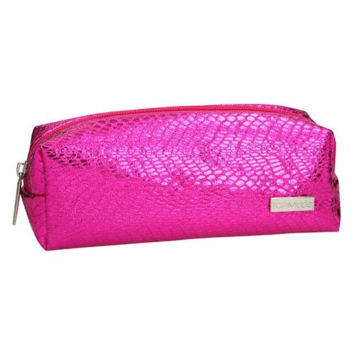 Kosmetická taška Top Model Tmavě růžová, s hadím vzorem