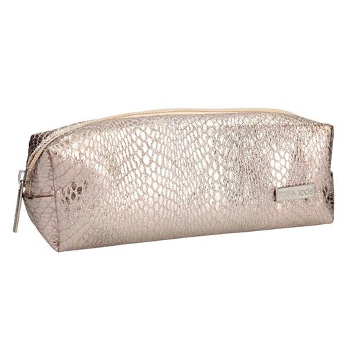 Kosmetická taška Top Model Zlatá, s hadím vzorem