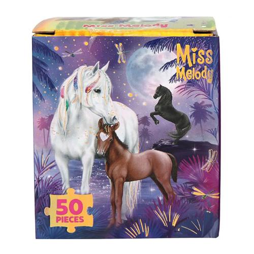 Puzzle Miss Melody ASST Koně pod noční oblohou, 50 dílků