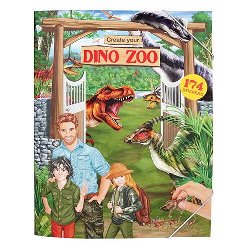 Kreativní sešit Create Your Dinosauří zoo, 174 samolepek