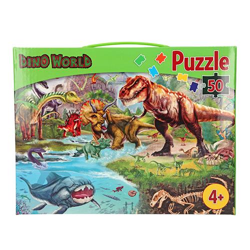 Puzzle Dino World Dinosauři, 50 dílků