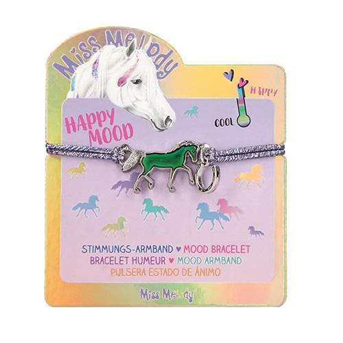 Náramek Miss Melody ASST Fialový s magickým koníkem