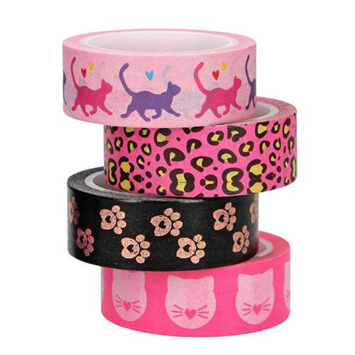 Dekorační lepicí pásky Top Model ASST Růžové, 4 ks