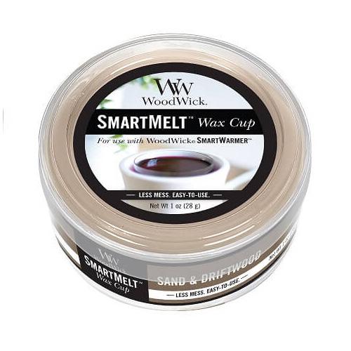 Vonný vosk WoodWick Písek a naplavené dříví, 28 g