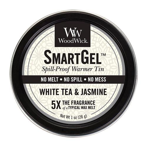 Vonný gel WoodWick Bílý čaj a jasmín, 28 g