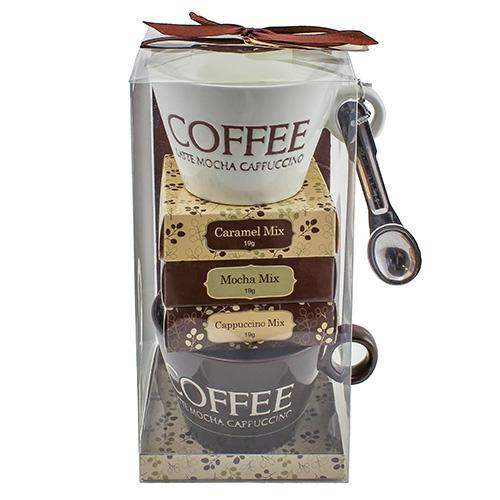 Dárkové sety Dárková sada Caramel Mix 19 g, Mocha Mix 19 g, Cappuccino Mix 19 g, 2 x k