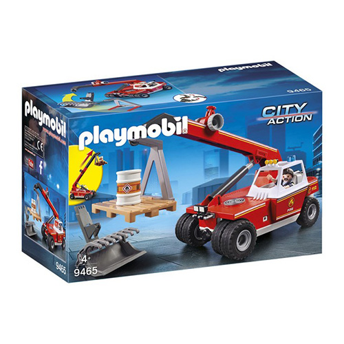 Hasičský teleskopický nakladač Playmobil Hasiči, 47 dílků