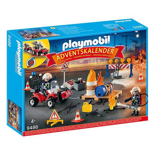 Adventní kalendář Playmobil Zásah hasičů, 76 dílků