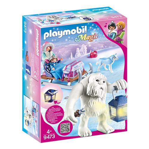 Sněžný trol se sáňkami Playmobil Křišťálový palác, 26 dílků