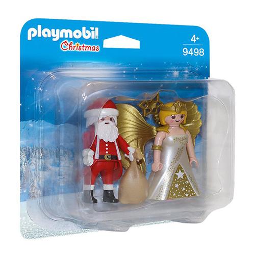 Duo Pack Santa a Anděl Playmobil Vánoce, 10 dílků