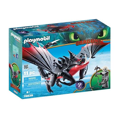 Jedosmrťák a Grimmel Playmobil Jak vycvičit draka, 11 dílků