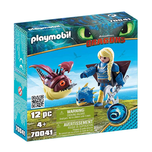 Astrid v létacím plášti a Trnožrout Playmobil Jak vycvičit draka, 12 dílků