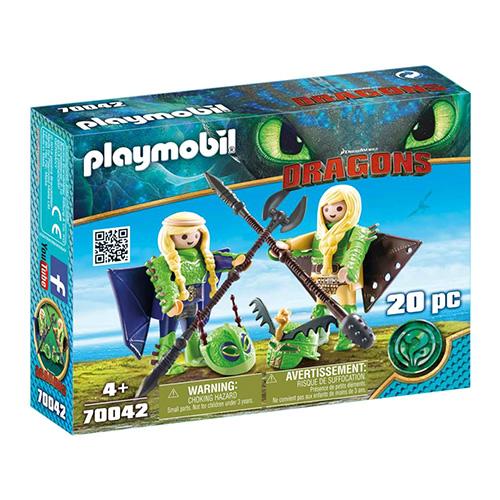 Rafana a Ťafan v létacím plášti Playmobil Jak vycvičit draka, 20 dílků