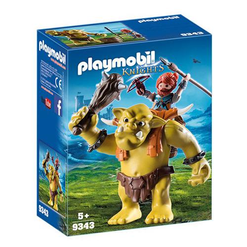 Obří trol s batohem na trpaslíky Playmobil Dračí rytíři, 14 dílků