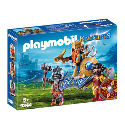 Král trpaslíků s ochránci Playmobil Dračí rytíři, 30 dílků