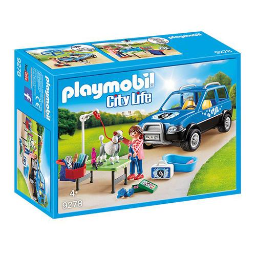 Pojízdný salon pro psy Playmobil Život ve městě, 72 dílků