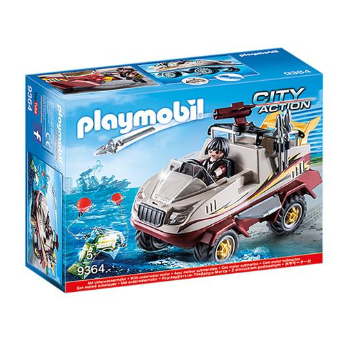 Obojživelné vozidlo Playmobil Policie, 48 dílků