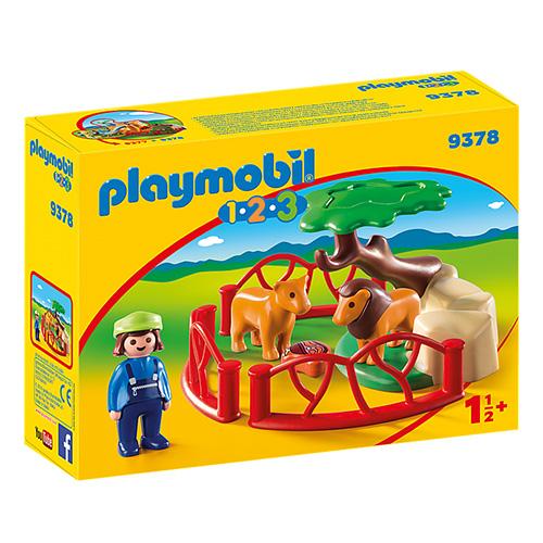 Ohrada se lvi Playmobil 1.2.3, 12 dílků