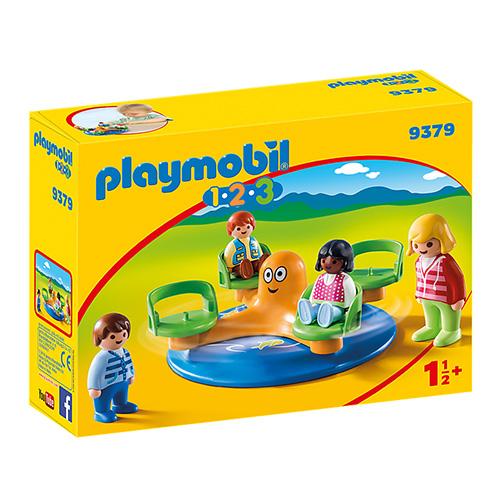Dětský kolotoč Playmobil 1.2.3, 10 dílků