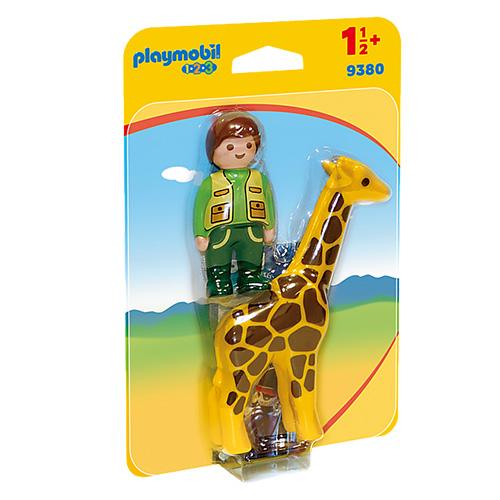 Ošetřovatel s žirafou Playmobil 1.2.3, 2 ks