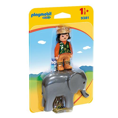 Ošetřovatel se slonem Playmobil 1.2.3, 2 ks