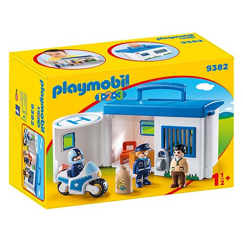 Přenosná policejní stanice Playmobil 1.2.3, 10 dílků