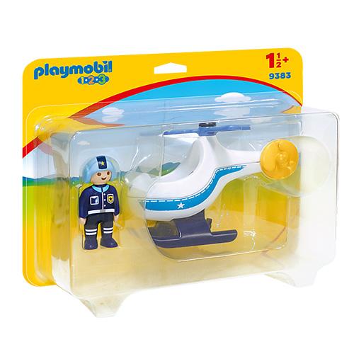 Policejní vrtulník Playmobil 1.2.3, 2 ks