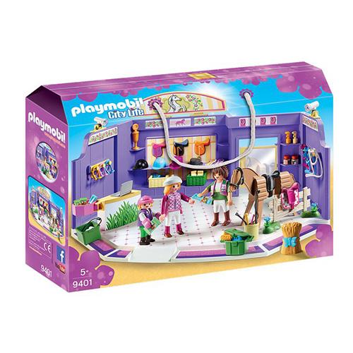 Obchod s jezdeckými potřebami Playmobil Obchodní centrum, 108 dílků