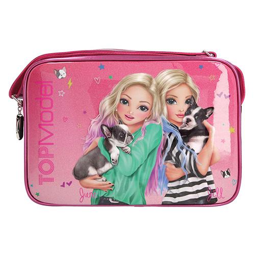 Taška přes rameno Top Model June a Jill, růžová s glitry