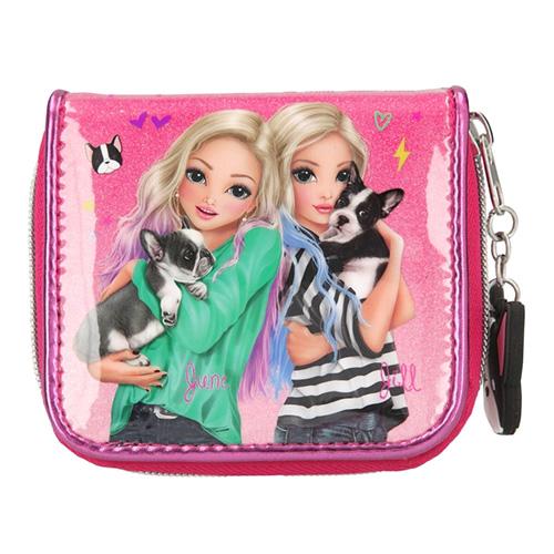 Peněženka Top Model June a Jill, růžová s glitry