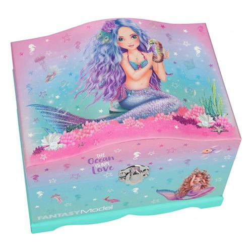 Šperkovnice Fantasy Model Mořská panna, růžovo-tyrkysová