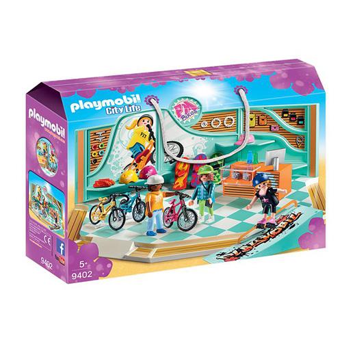 Obchod s koly a skateboardy Playmobil Obchodní centrum, 41 dílků