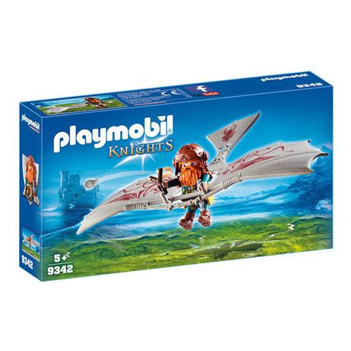 Trpaslík na létajícím stroji Playmobil Rytíři a barbaři, 10 dílků