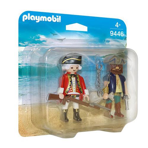 Duo Pack Pirát a voják Playmobil Piráti, 10 dílků