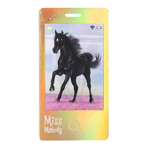 Zápisník Miss Melody ASST Zlatý, černý kůň