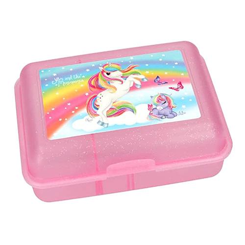 Svačinový box Ylvi and the Minimoomis ASST Světle růžový s přepážkou