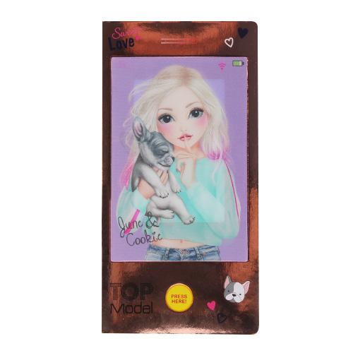 Mini omalovánky Top Model ASST June a Cookie, růžové, s písničkou