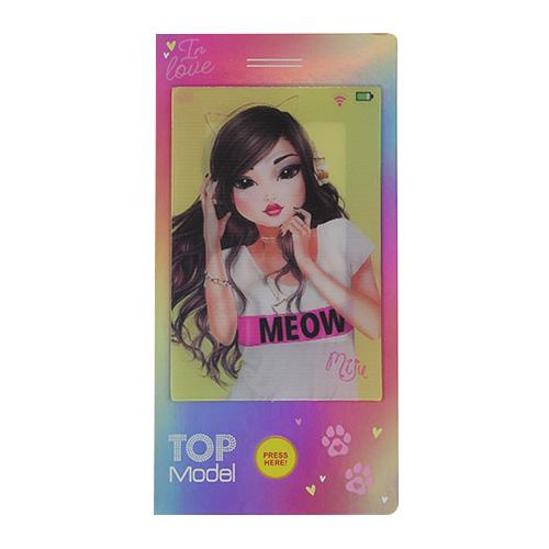 Mini omalovánky Top Model ASST Miju, duhové, s písničkou