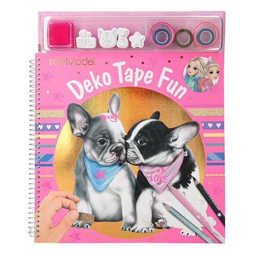 Omalovánky, kreativní sada Top Model Deko Tape Fun, barvevné pásky, razítka