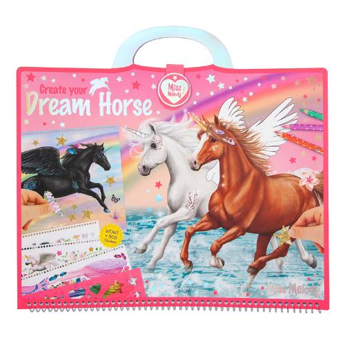 Omalovánky, kreativní sada Miss Melody Dream Horse, 305 samolepek