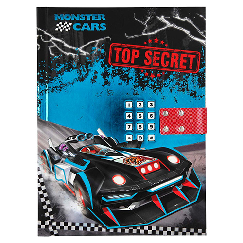 Diář Monster Cars Top Secret