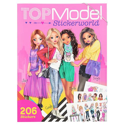 Kreativní sešit Top Model Modelky ve městě, 206 samolepek