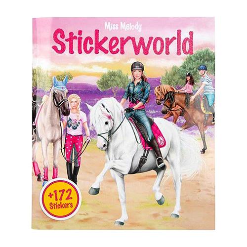 Kreativní sešit Miss Melody Dívky a koně na louce, 172 samolepek