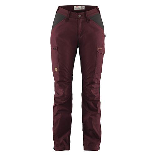 Fjällräven Kaipak Trousers Curved W Dark Garnet-Dark Grey | 356-030 | 36