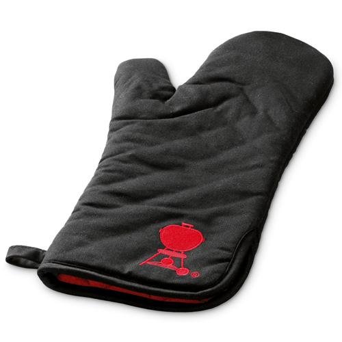 Grilovací rukavice Weber černá s červeným kotlovým grilem